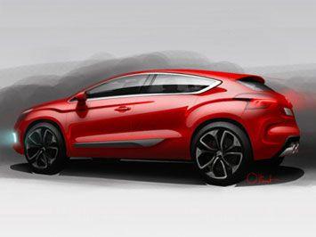 Citroën DS4: design sketches
