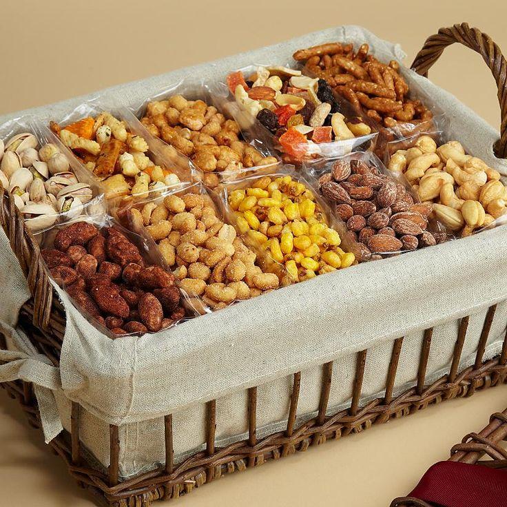 #Canasta de regalo con frutos secos y semillas para compartir.