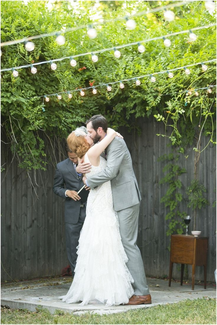 Dallas wedding photographer, Mary Fields Photography, DIY backyard wedding, outdoor backyard wedding ceremony