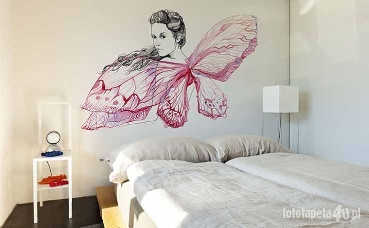 Beautiful white room with fairy wallpaper by Fototapeta4u.pl