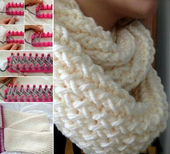 knitted Loom Scarf Free Pattern