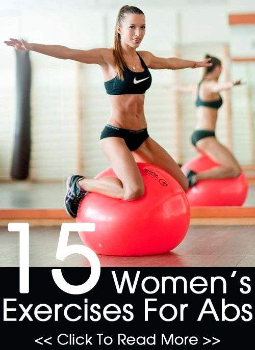 Top 15 Women's Exercises For Abs - although the girl in the picture looks unhealthy