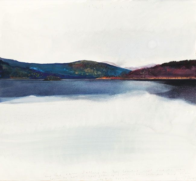 artchipel:    Kurt Jackson - And the rain falling… Mixed media, 57 x 61 cm