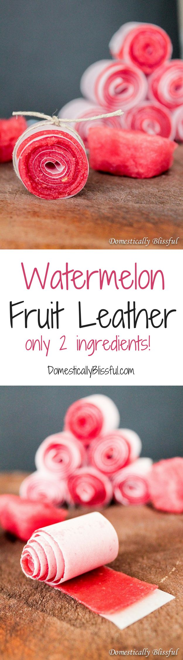 Watermelon Fruit Leathers are the perfect healthy treat this summer & you only need 2 ingredients!