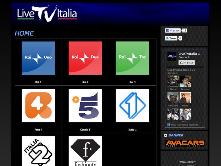 Website Live TV Italia