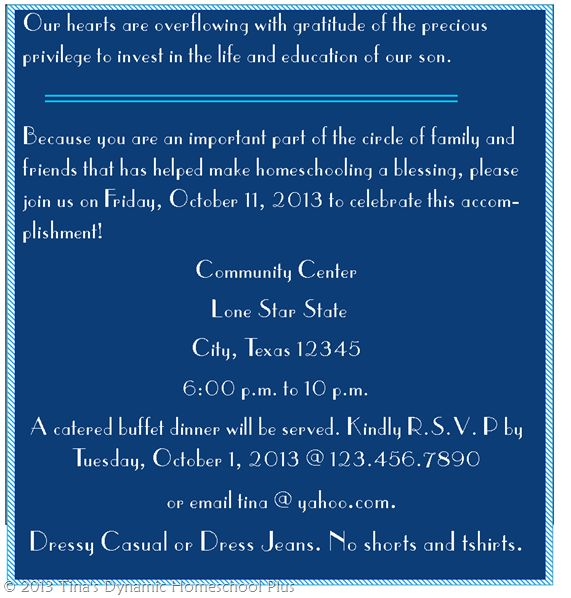 college graduation invitation wording