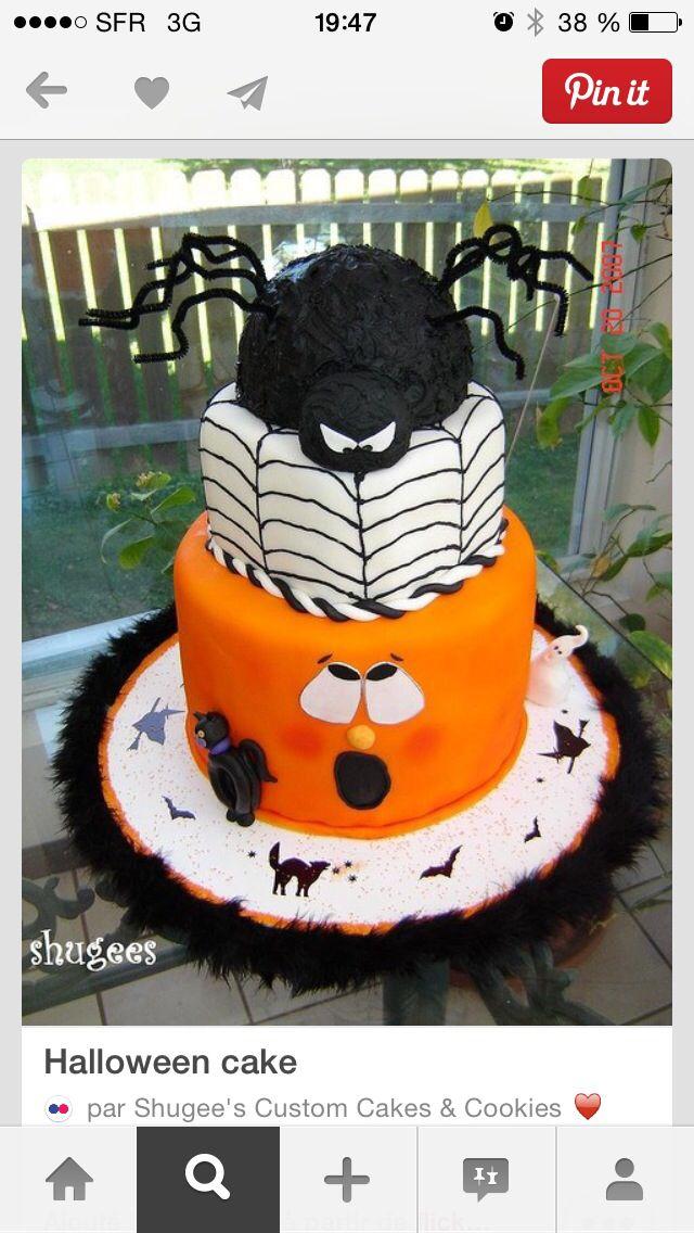 Beau le gâteau d'halloween!