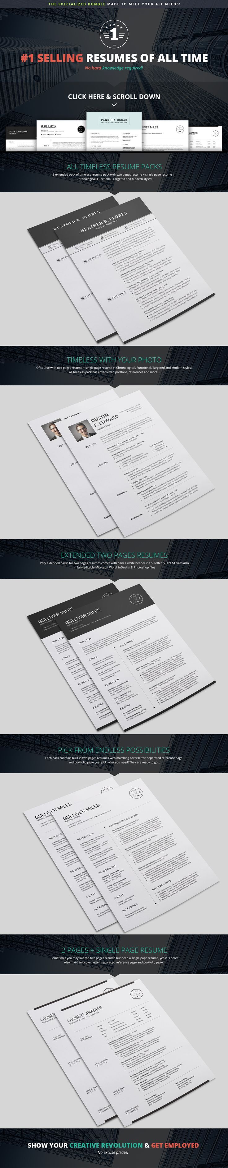 The best resumes at best price is here, you will get all types of #resume templates in three formats Microsoft word, Photoshop and InDesign…