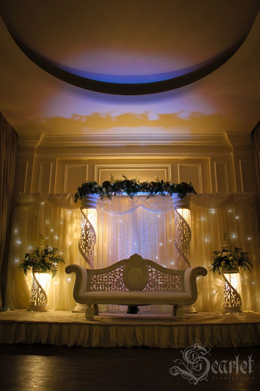 142 best images about wedding decor etc on pinterest for Arab wedding stage decoration