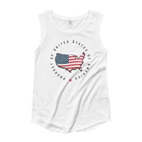 Retro United States Seal Ladies' Cap Sleeve T-Shirt