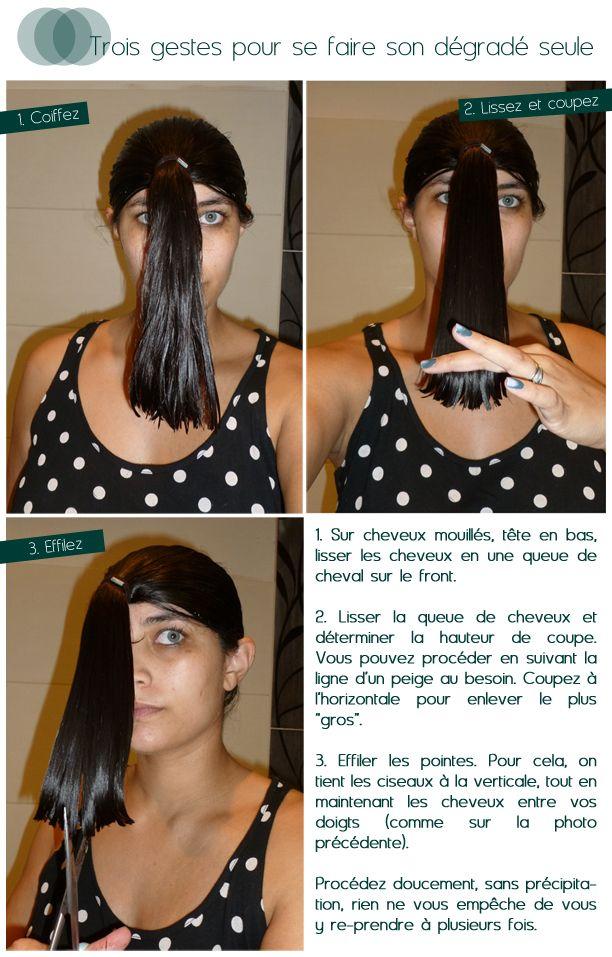Les cheveux non mouillés !!!
