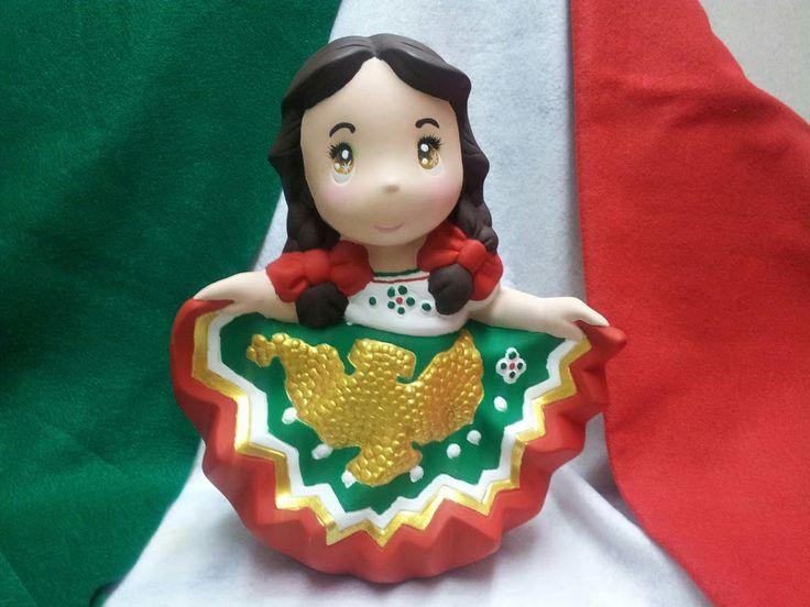 Una mexicanita más, con su traje típico del Distrito Federal!