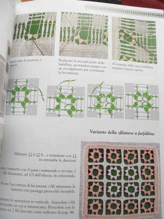 Drawn thread embroidery book Guida al ricamo by ElenaRossi