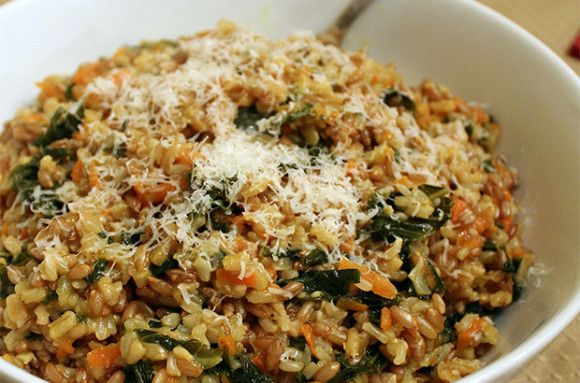 Whole Grain Risotto With Kale and Carrots