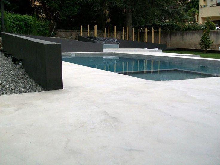 M s de 25 ideas incre bles sobre construccion piscinas en - Microcemento para piscinas ...