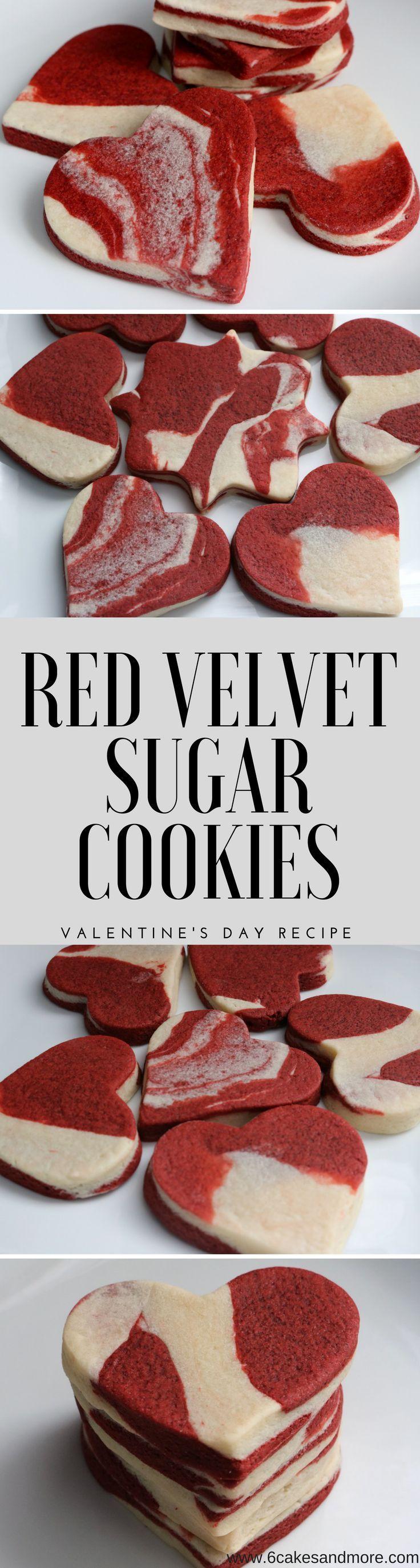 No Chill No Spread Red Velvet Sugar Cookies! #redvelvet #redvelvetsugarcookie #valentinesday #valentinesdaytreat #nochillcookie #nospreadcookie #cookietrend