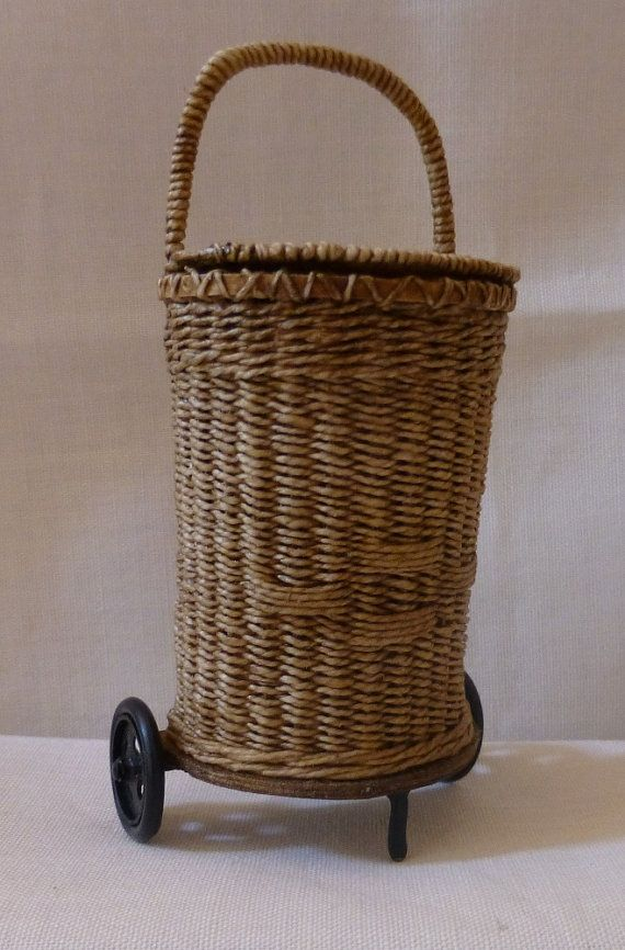 1:12th Scale Dollhouse Miniature Shopping Trolley by Lidi Stroud. Her work is just beautiful. You can find her on Etsy