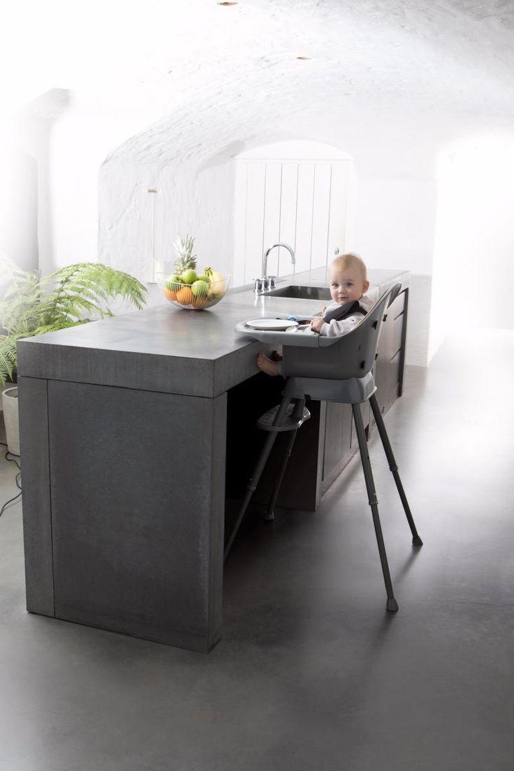Meegroeikinderstoel | Verstelbaar op 3 verschillende hoogtes (keukeneiland, eettafel, junior stoel)