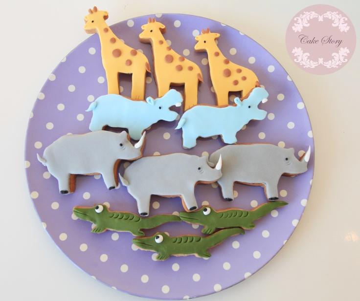 Animals birthday cookies...hayvanlar temalı doğum günü kurabiyeleri