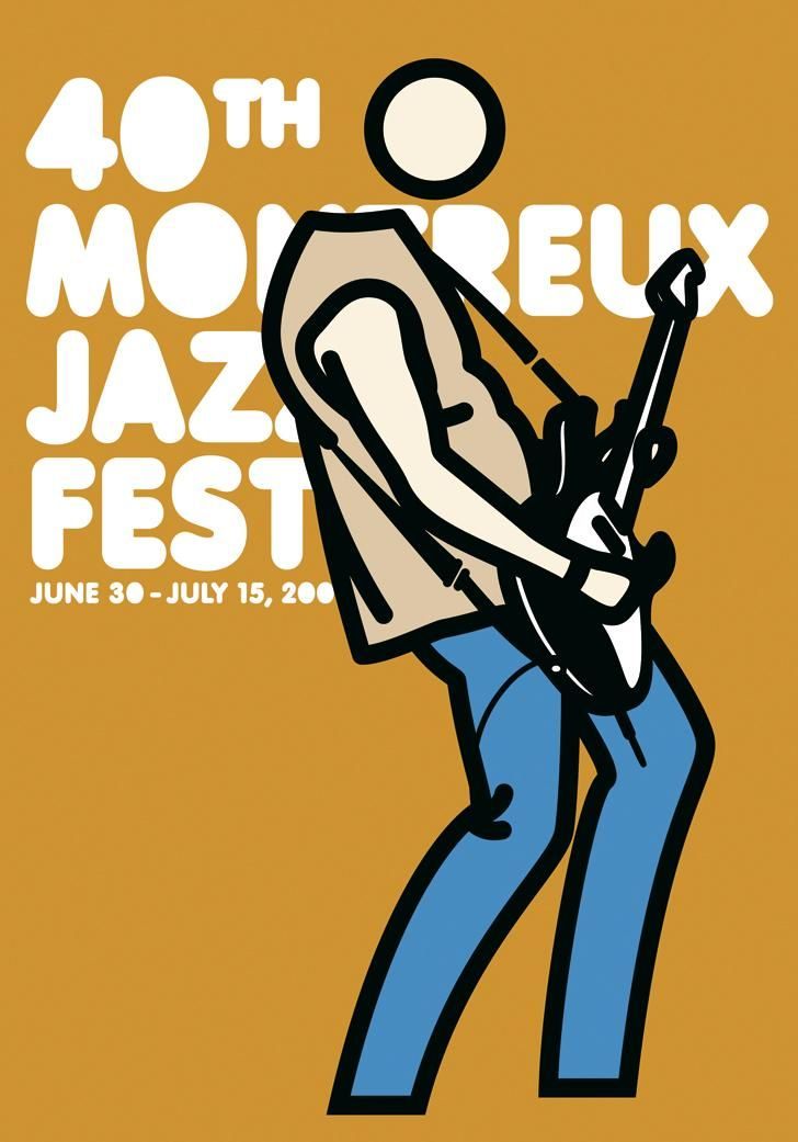 Montreux 2006 Artwork by Julian Opie