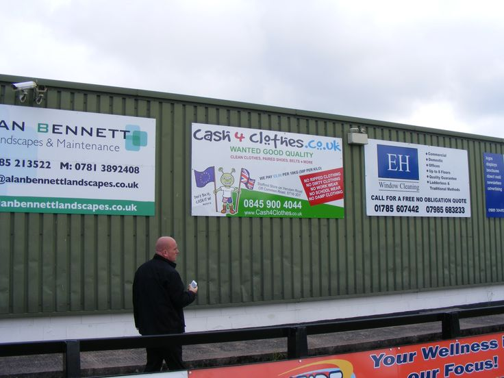 Cash 4 Clothes invest in local football team Stafford Rangers FC www.cash4clothes.co.uk