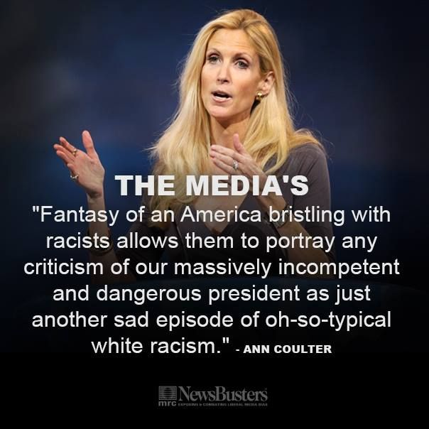 Ann Coulter Column: Sixth Sense Media Sees Racist People Everywhere