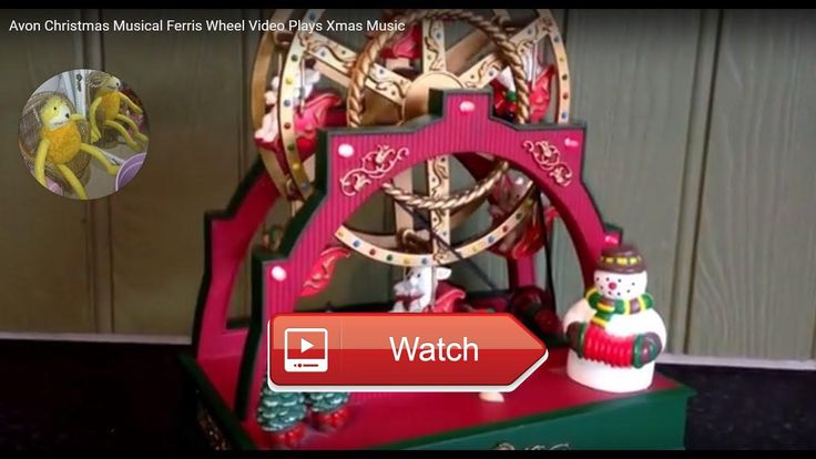 Avon Christmas Musical Ferris Wheel Video Plays Xmas Music An Avon working musical Xmas Ferris Wheel Plays Xmas music Memory Lane Toys Games
