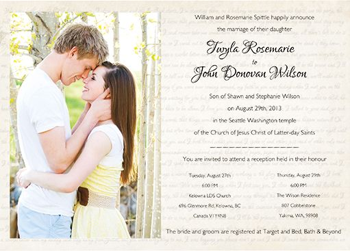 18 Best Photo Wedding Invitations Images On Pinterest