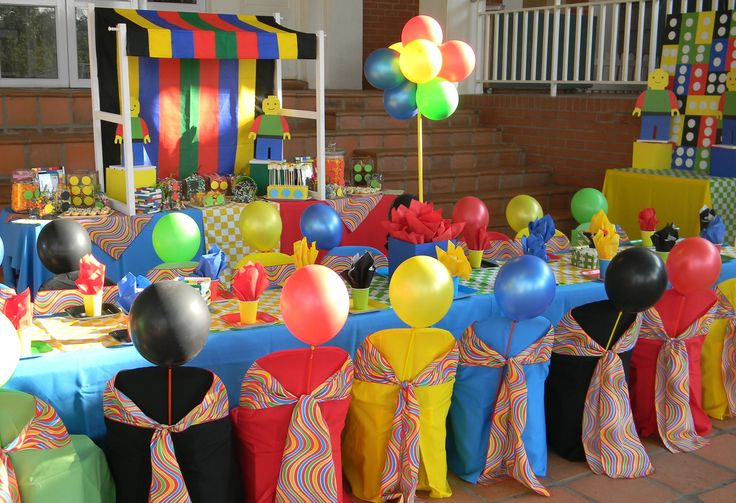 Lego themed kiddies party