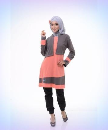 Beli Baju Atasan Wanita Tunik ALNITA AA-10 PEACH ABU dari Aprilia Wati agenbajumuslim - Sidoarjo hanya di Bukalapak