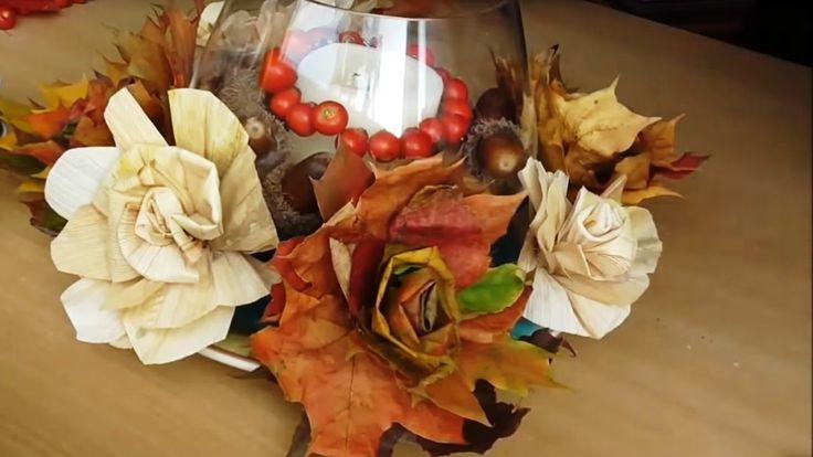 Jana Melas Pullmannová: Dekorácia z listov a šúpolia