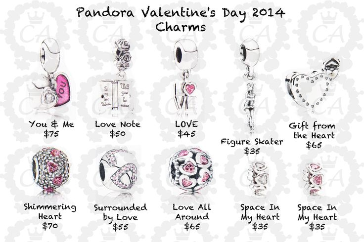 Pandora Valentines | Pandora Valentine's Day Collection 2014 Prices
