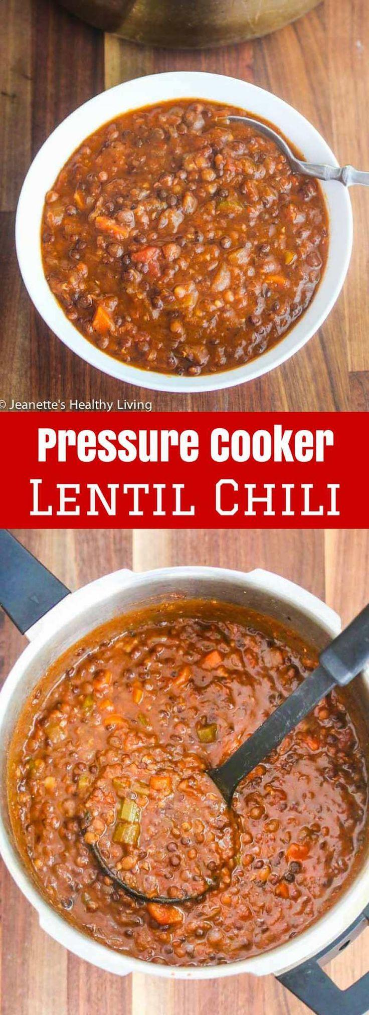 Pressure Cooker/Instant Pot Lentil Chili