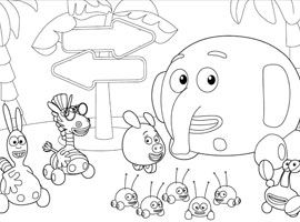 jungle junction coloring book favor disney junior udskriv og farvelg junglehjul - Jungle Junction Coloring Pages
