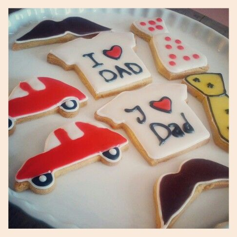 Father's day cookies (royal iced)