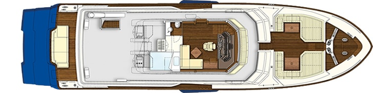 Upper deck - Mochi Craft - Long Range 25 #yacht #luxury #ferretti #mochi
