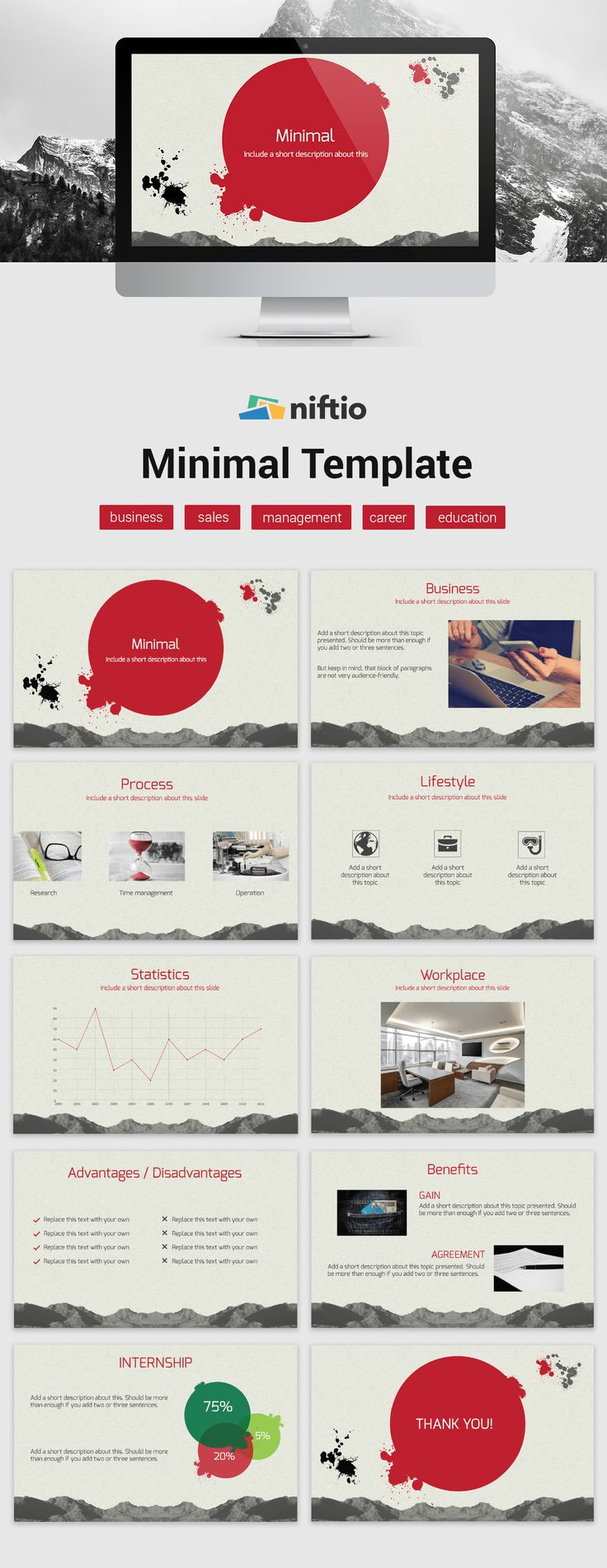 The U0027Minimalu0027 Presentation Template Can Help You Achieve That Professional  Look For Your Next Business Presentation Or Sales Pitch.