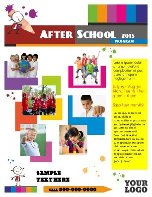 After School Program Flyer Great for schools, educational - daycare flyer template
