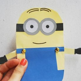 Learn how to make these cute minion paper dolls! It's a fun rainy day craft for kids.  -Repinned by Totetude.com