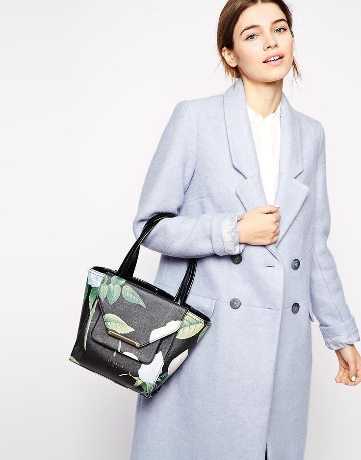 Immagine 3 di Ted Baker - Distinguish Rose - Maxi borsa piccola con tratteggio incrociato