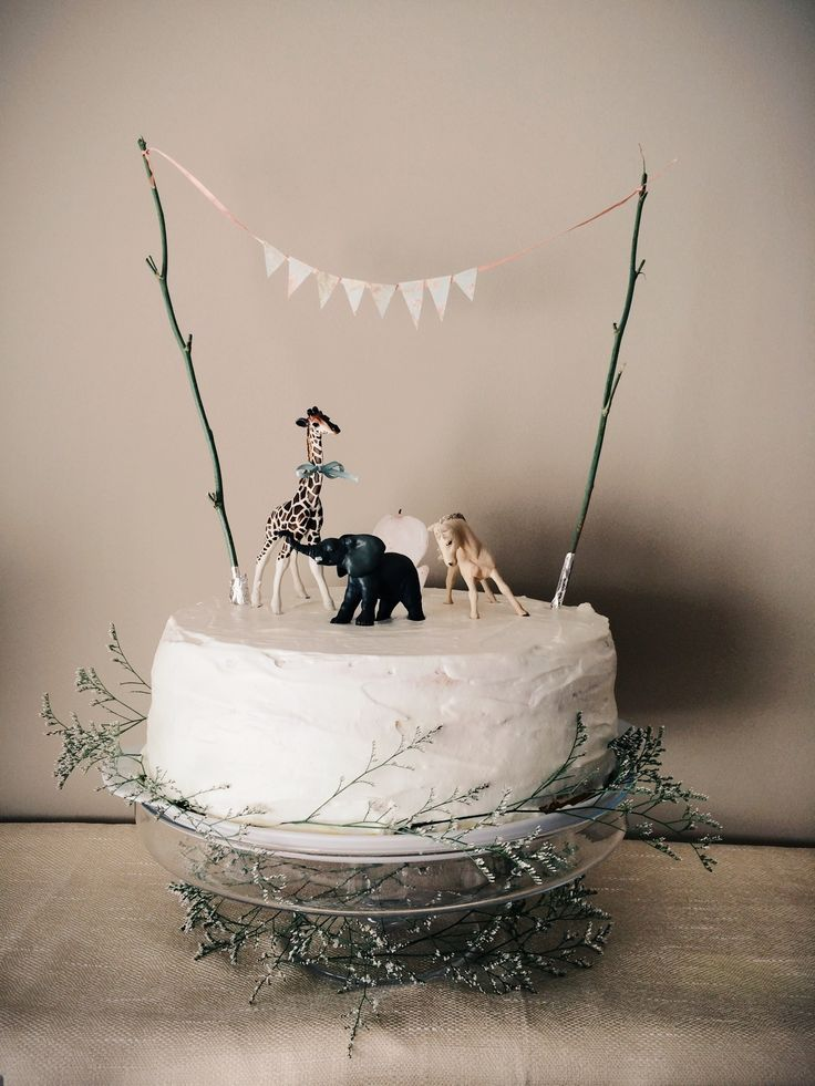 Jungle /safari cake with natural touches