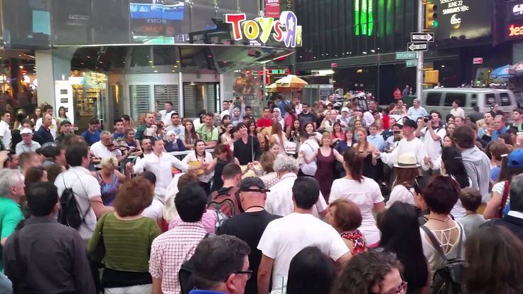 Hungarian Flash Mob on Times Square, New York 2014