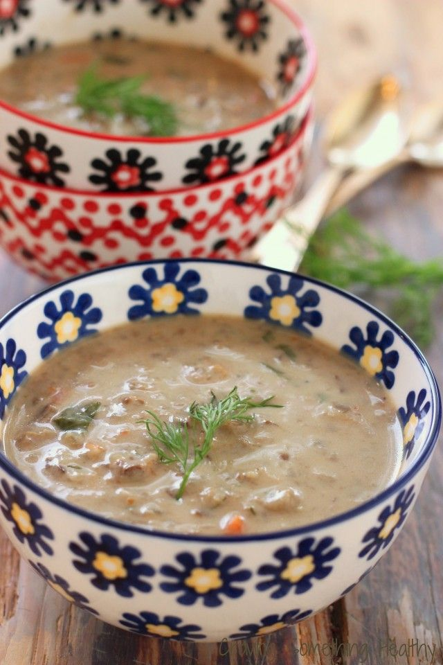 A Christmas Eve tradition when I was growing up! Polish Mushroom Soup with Barley Craving Something Healthy