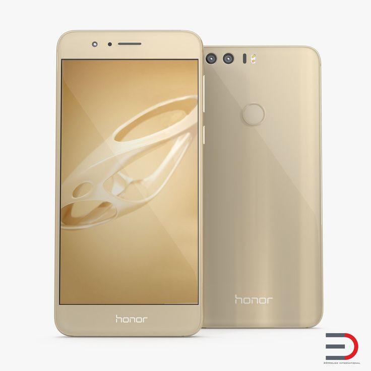 3D Huawei Honor 8 Sunrise Gold model