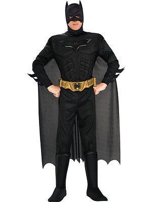 Deluxe #adult dark #knight batman fancy #dress superhero black muscle mens costum,  View more on the LINK: http://www.zeppy.io/product/gb/2/201435610851/