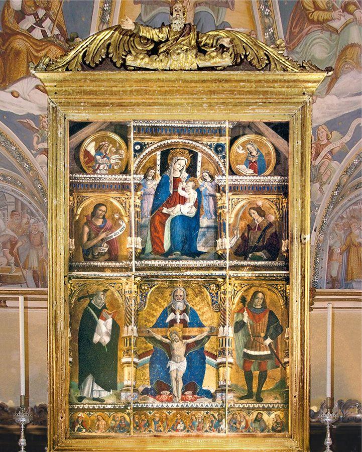 Polittico Marinoni - Santuario della Santissima Trinità (Casnigo) - Secolo XVI