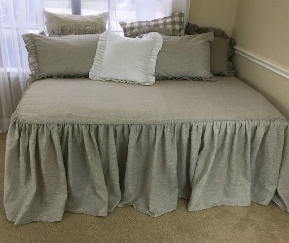 Daybed Cover Daybed Bedding Fitted Daybed by CustomLinensHandmade