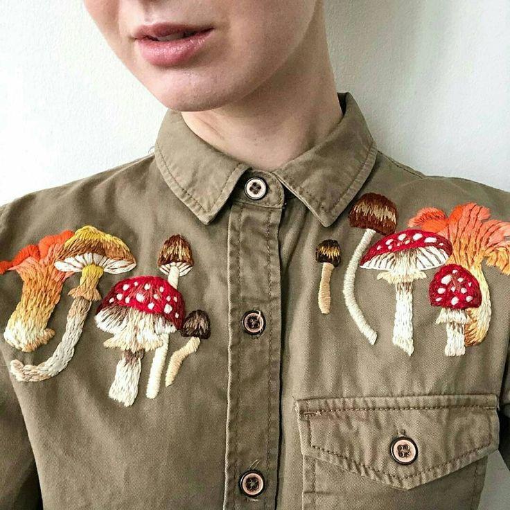 ️ 🌺 🍁 🍄 🌾 🐷🐣 — Mush shirt   Diy fashion clothing ...