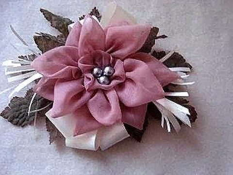How to make a silk flower fascinator on a headband or barrette, for bridal, special occasions