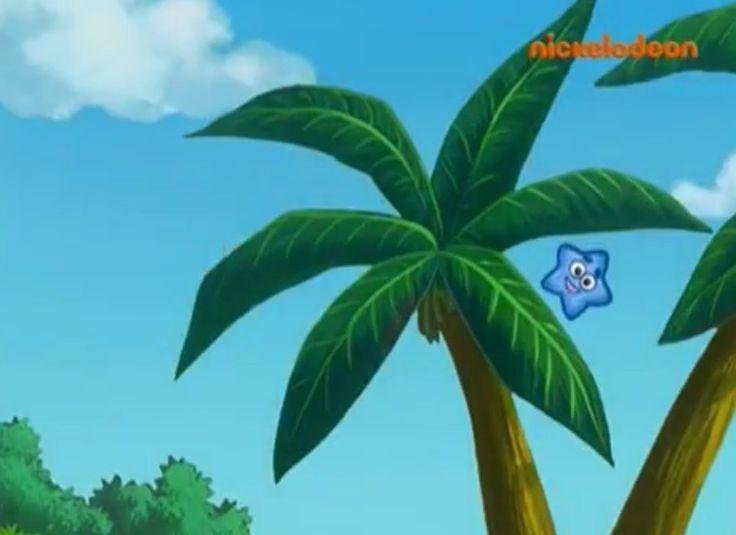 Blue Star behind the Jungle on ''Stuck Truck'' watching Dora the Explorer.